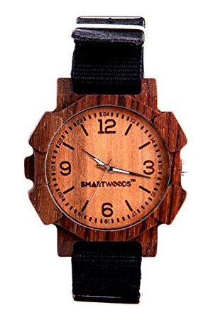 SmartWoods Zegarki - Unisex Dorośli Analogowy zegarek kwarcowy z nylonową bransoletką 590270621115