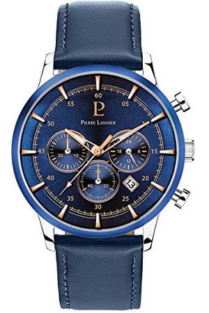Pierre Lannier Męski analogowy zegarek kwarcowy ze skórzanym paskiem 224G166