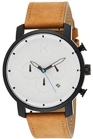 MVMT Męski analogowy zegarek kwarcowy ze skórzanym paskiem ze skóry cielęcej D-MC01-WBTL