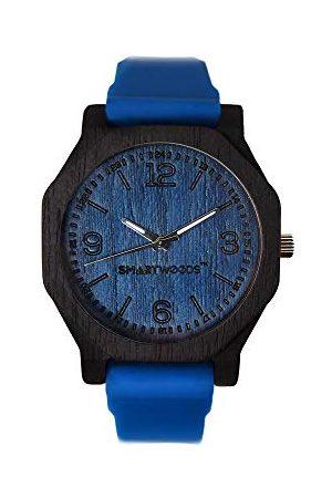 SmartWoods Unisex analogowy zegarek kwarcowy dla dorosłych z silikonowym paskiem 5903003180111