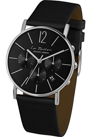 Jacques Lemans Unisex analogowy zegarek kwarcowy ze skórzanym paskiem LP-123A