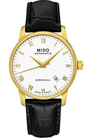 MIDO Męski zegarek na rękę BARONCELLI II GENT analogowy automatyczny skóra M8600.3.26.4