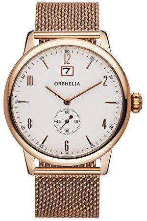 ORPHELIA Męski zegarek na rękę vintage analogowy kwarcowy stal szlachetna bransoletka (Rosegold)