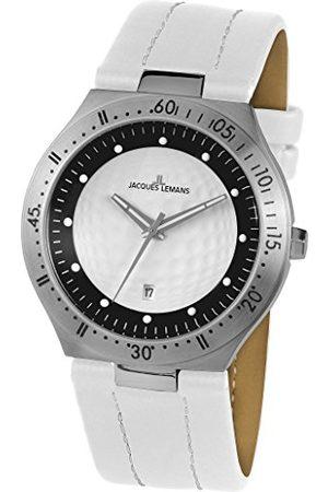 Jacques Lemans Męski analogowy zegarek kwarcowy ze skórzanym paskiem 1-1838B