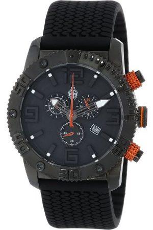Burgmeister Męski zegarek kwarcowy z czarną tarczą chronografu i czarnym silikonowym paskiem BM521-622B