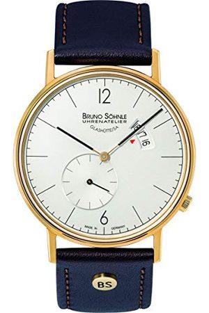 Soehnle Mężczyzna Zegarki - Bruno Söhnle męski analogowy zegarek kwarcowy ze skórzanym paskiem 17-33053-261
