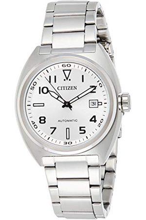 Citizen Męski analogowy automatyczny zegarek z bransoletką ze stali szlachetnej NJ0100-89A