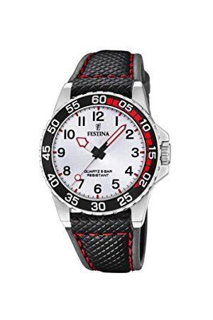Festina Chłopcy analogowy zegarek kwarcowy ze skórzaną bransoletką F20460/1