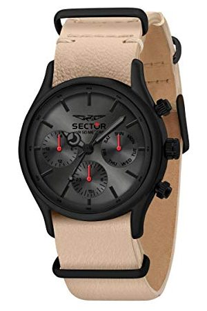 Sector No Limits męski analogowy zegarek kwarcowy ze skórzanym paskiem R3251517006