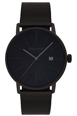 Gigandet Męski analogowy zegarek kwarcowy z bransoletką ze stali szlachetnej G42-007