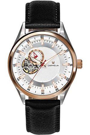 ORPHELIA Mężczyzna Zegarki - Automatyczny męski zegarek na rękę Balance ze skórzanym paskiem Taśma różowe złoto