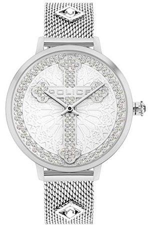 Police Uniseks dla dorosłych analogowy zegarek kwarcowy z bransoletką ze stali szlachetnej PL16031MS.04MMA