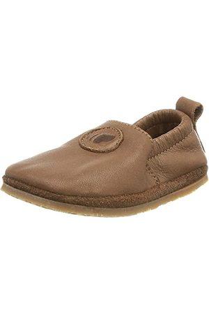 POLOLO Unisex Baby stóp Uni Outdoor ciemnobrązowe płaskie slipper, 20 EU