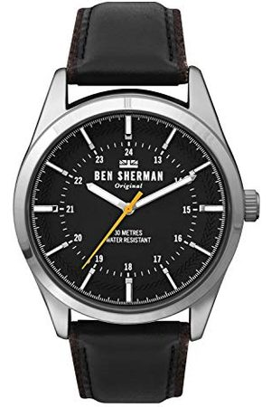 Ben Sherman Mężczyzna Zegarki - Męski analogowy zegarek kwarcowy ze skórzanym paskiem WB027B