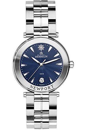 Michel Herbelin Unisex Dorośli Analogowy zegarek z bransoletką ze stali szlachetnej 12285/B35