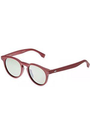 Fendi Męskie FF M0001/S EL C9A 49 okulary przeciwsłoneczne, czerwone (Red/Brown)