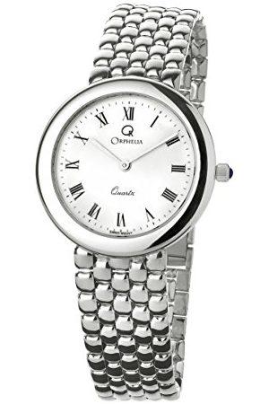 ORPHELIA Mężczyzna Zegarki - Męski zegarek na rękę analogowy kwarcowy bransoletka białe złoto