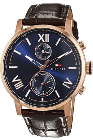 Tommy Hilfiger Męski analogowy zegarek kwarcowy ze skórzaną bransoletką 1791308