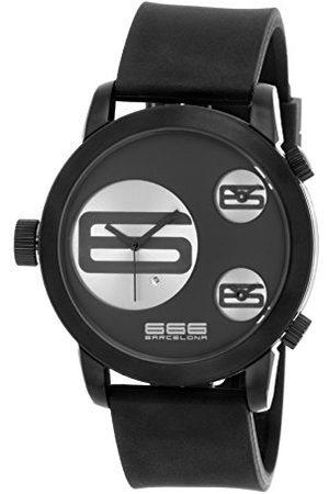 666Barcelona Męski analogowy zegarek kwarcowy z gumową bransoletką 66-340