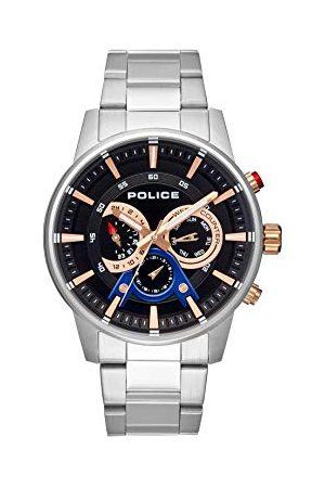 Police Policja męski wielofunkcyjny zegarek kwarcowy z paskiem ze stali nierdzewnej PL.15523JS/02M