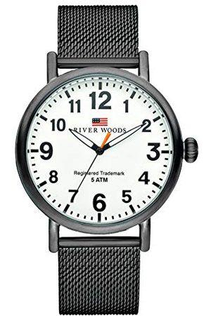 River Woods Męski zegarek na rękę stal szlachetna Sacramento bransoletka czarno