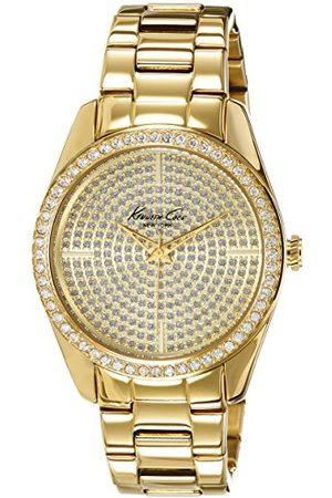 Kenneth Cole Damski analogowy zegarek kwarcowy z bransoletką ze stali szlachetnej IKC4957_DORADO