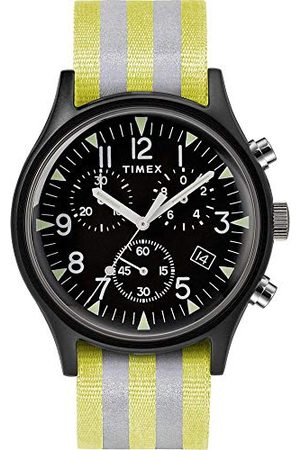 Timex Męski zegarek chronograf MK1 z bransoletką z materiału Taśma żółty/