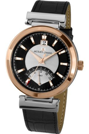 Jacques Lemans Classic męski zegarek na rękę XL Verona analogowy skóra 1-1697B