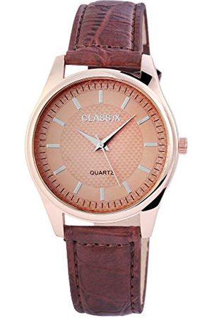 CLASSIX Męski analogowy zegarek kwarcowy ze skórzanym paskiem RP4783750012