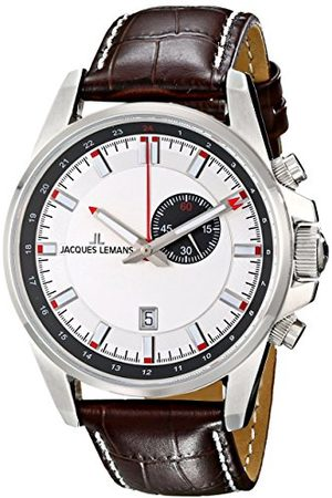 Jacques Lemans Męski analogowy zegarek kwarcowy ze skórzanym paskiem 1-1653B