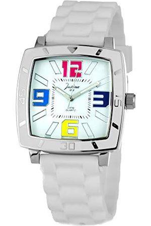 JUSTINA Zegarki - Unisex zegarek na rękę analogowy kwarcowy kauczuk 21971B