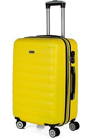 Itaca Rozszerzalna walizka na wózek, 60 cm, średniej wielkości, ABS bicolor. Sztywny, odporny, wytrzymały i lekki. Rękojeść teleskopowa, 2 chowane uchwyty, 4 koła. Średni rozmiar 71260