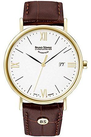 Soehnle Mężczyzna Zegarki - Bruno Söhnle męski analogowy zegarek kwarcowy ze skórzanym paskiem 17-33085-971