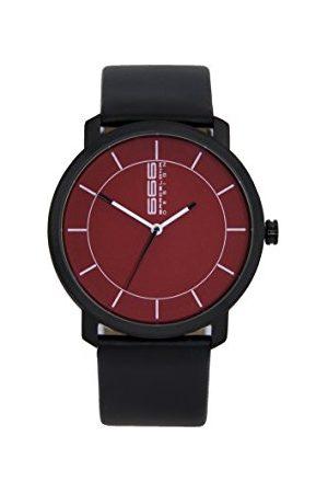 666Barcelona Męski analogowy zegarek kwarcowy ze skórzanym paskiem 66-324