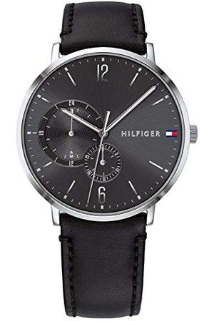 Tommy Hilfiger Mężczyzna Zegarki - Męski wielofunkcyjny zegarek kwarcowy ze skórzanym paskiem 1791509