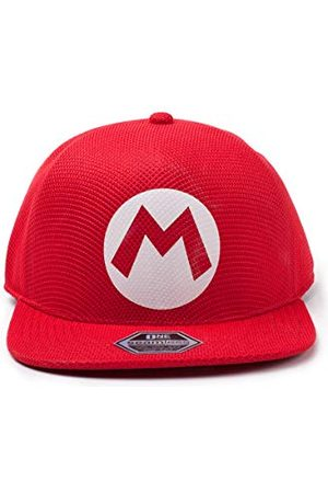 Difuzed Nintendo Super Bros. Mario bezszwowa czapka bejsbolowa, czerwona (czerwona czerwona), jeden rozmiar
