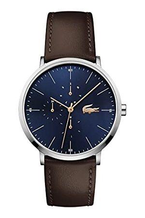 Lacoste Męski zegarek kwarcowy z wieloma tarczami ze skórzanym paskiem 2010976