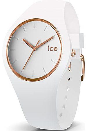 Ice-Watch Kobieta Zegarki - Ice Glam różowo-złoty – zegarek damski z silikonowym paskiem Pasek Small /