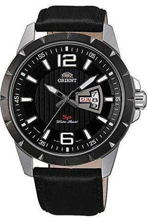 Orient Męski analogowy zegarek kwarcowy ze skórzanym paskiem FUG1X002B9