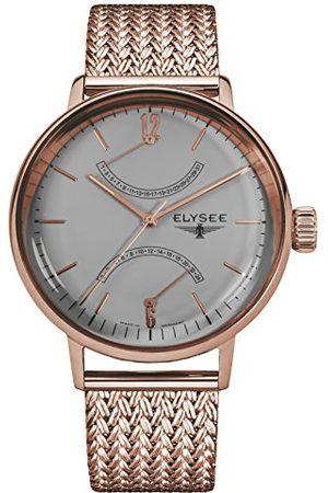 ELYSEE 13290M analogowy zegarek kwarcowy z bransoletką ze stali nierdzewnej dla dorosłych, uniseks