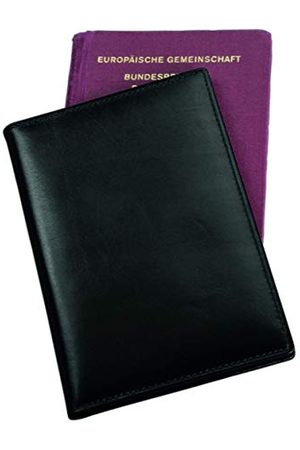 Alassio 42059 - etui na paszport z prawdziwej skóry / skóry nappa, etui z wbudowaną folią RFID Document Safe, etui na dowód osobisty w kolorze czarnym, etui na dowód osobisty ok. 9,5 x 14 cm