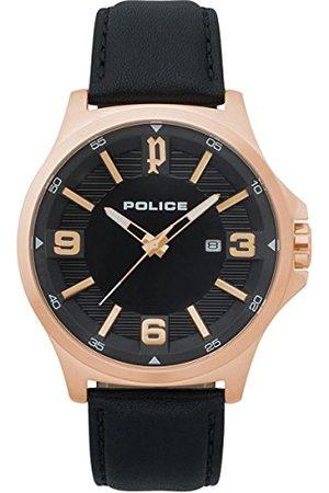 Police Mężczyzna Zegarki - Męski zegarek kwarcowy z chronografem ze skórzanym paskiem PL.15384JSR/02