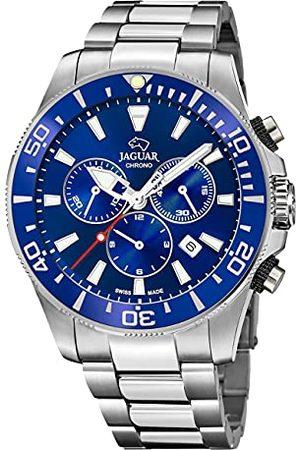 Jaguar Mężczyzna Zegarki - Model zegarka J872 / 1 z kolekcji Executive, 46,5 mm niebieska obudowa ze stalowym paskiem dla mężczyzn J872/1