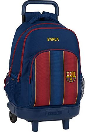 Safta Plecak szkolny z wózkiem i wyściełanym tyłem firmy FC Barcelona, 20/21, 330 x 220 x 450 mm