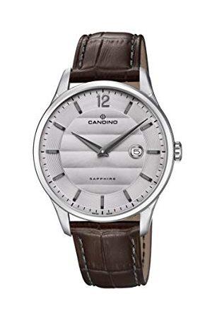 Candino Męski analogowy klasyczny zegarek kwarcowy ze skórzanym paskiem C4638/2
