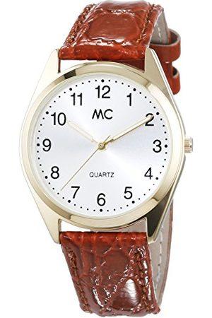 MC Męski zegarek na rękę XL analogowy kwarcowy skóra 27665