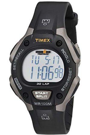 Timex Watches męski zegarek na rękę XL cyfrowy kwarcowy plastik T5E931SU Pasek /stal szlachetna