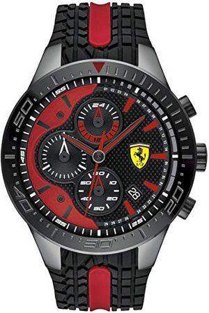 Scuderia Ferrari Męski zegarek kwarcowy chronograf z silikonowym paskiem 0830592