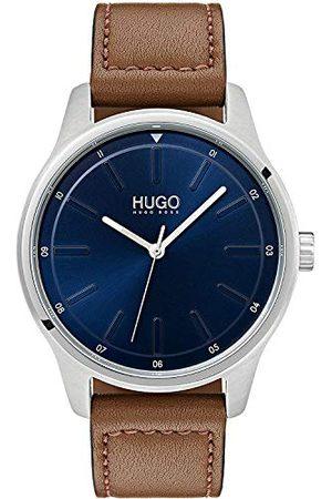 HUGO BOSS Męski analogowy klasyczny zegarek kwarcowy ze skórzanym paskiem 1530029