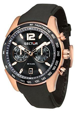 Sector Męski chronograf kwarcowy zegarek ze skórzanym paskiem R3271794003